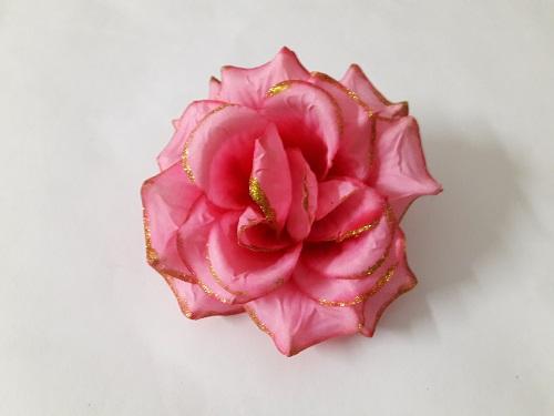 Роза «Эльза» с золотом d=15см Б/С Г5440