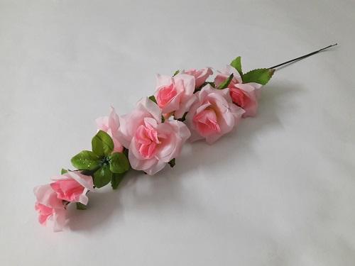 Ветка роза-каскад 6г.+2бут Н=54см Б/С В142