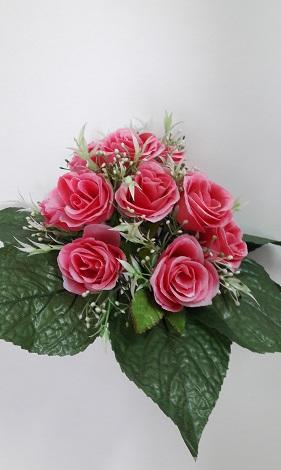 Букет роз в розетке из листьев 12г.Н=33см Б/С  А60