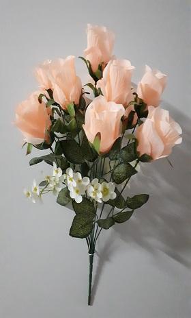 Букет роз «Жемчуг» 12г.Н-53см  Б/С  Б514