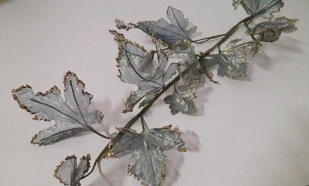 Ветка виноград Органза Н-117см.  Э2257