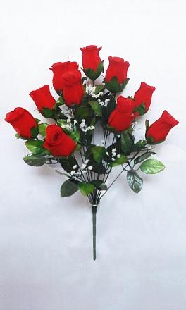 Букет роз бархатных «Ирма» 12г.Н=52см Б/С  Б489