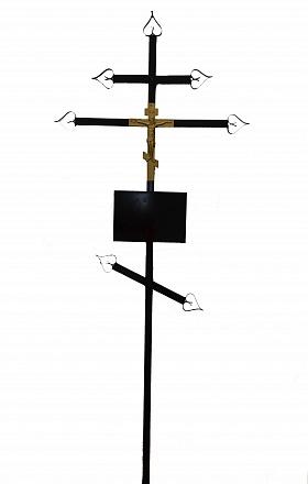 Крест металл.№3 (православный). Р907