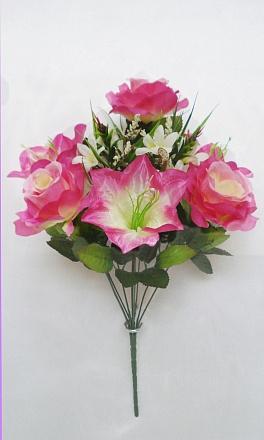 Букет роза+лилия «Веста» 8г.2вет.Н-50см Б517 Б/С