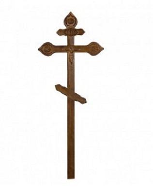 Крест сосновый «Фигурный с орнаментом» Н=220см. Р6995