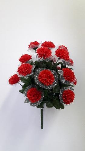 Букет хризантем в фате «Невеста» 18г. Н=45см Б/С Б175