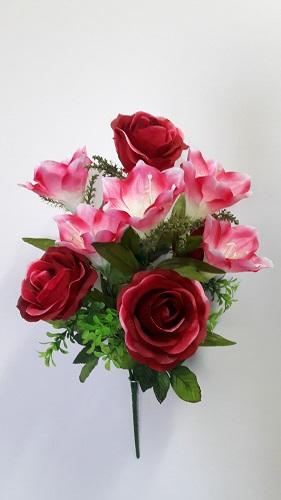 Букет роза+лилия «Трапеция» 10г.Н=56см  Б/С Б310