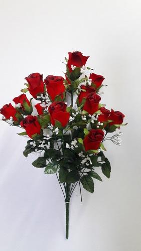 Букет роз с кашкой барх. 17г.Н=62см Б/С АК389