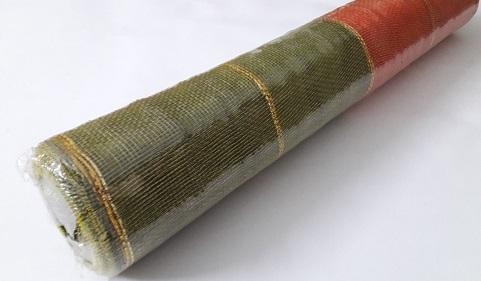 Сетка для цветов золотая полоса двухцветная шир.=53см Б/С ЛС1520