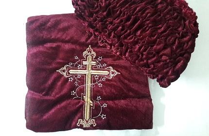 Обтяжка на гроб (бархат с вышивкой). Р2625
