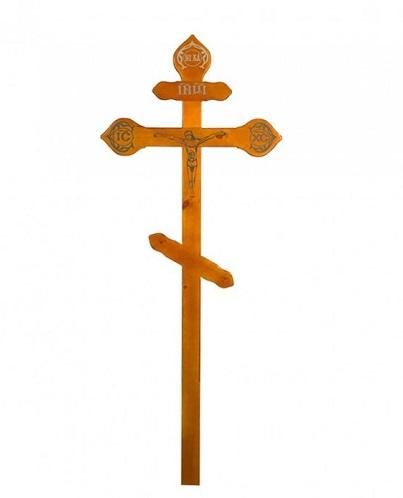 Крест сосна прямой с распятьем Н=220см. Р6993