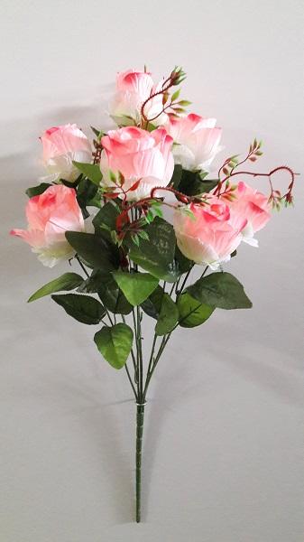 Букет роз атласных с тархуном 7г.Н-70см Б\С  Б620