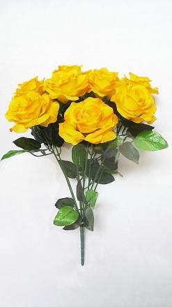 Букет роз «Пейзаж» 9гол. Н-54см  Б614