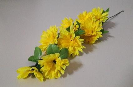 Ветка хризантемы каскад 6г.+2бут. Н-55см Б/С В09