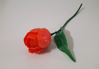 Тюльпан малый пластик Н-42см Б/С П5164