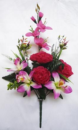 Композиция с орхидеями 7вет. Н-54см   Б684