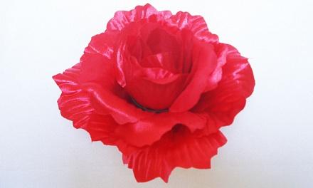 Роза «Зарница» атласная d-14см Б/С Г49