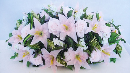 Подставка роза+лилия с добавлением кукурузки ПД6818
