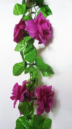 Цепочка с розами «Маугли» L-210см Б/С  ЛЗ645