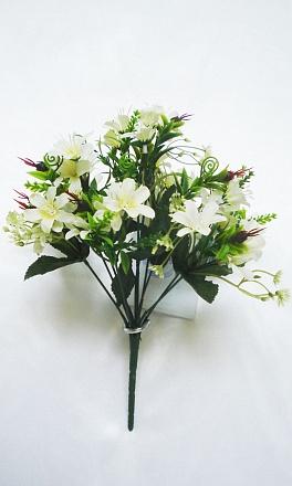 Букет мелкоцвета «Снежок» 10вет.+30гол.Н33см Б/С Б538