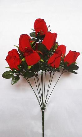 Букет роз бархатных 11 гол. Н-57см   Б1033
