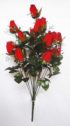 Букет роз бархатных с доб. 11гол. Н-63см Б020