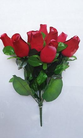 Букет розы бутылочной 9гол. Н-55см Б/С Б666