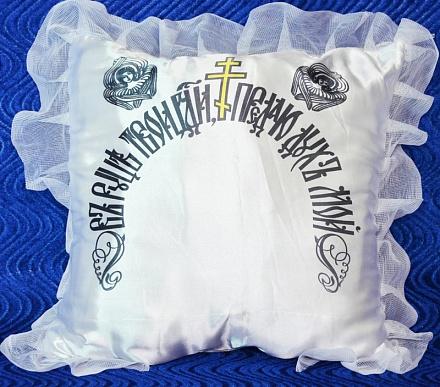 Подушка «Ангел» атлас+кружево Р2257