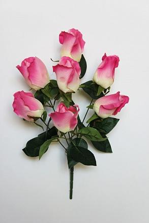 Букет роз с крупным бутоном «Рэкрео» 7гол. Н-40см Б/С Б714