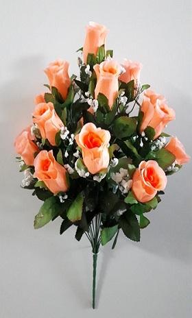 Букет бутонов роз с кашкой 16гол. Н-57см  Б1871