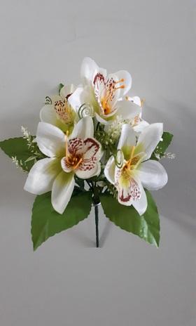 Букет орхидей в розетке «Светлячок» 5гол. Н-27см  Б811