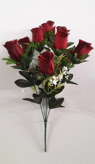 Букет роз из сатина «Грация» 10г. Н-60см  АЛ10854