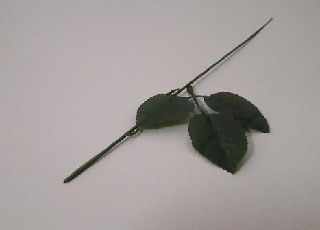 Ножка розы с одним листом Н-42см  О060