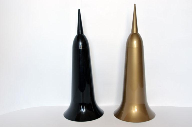 Ваза со штырем средняя литая d-15см, Н-40см Б/С   ВЗ5893