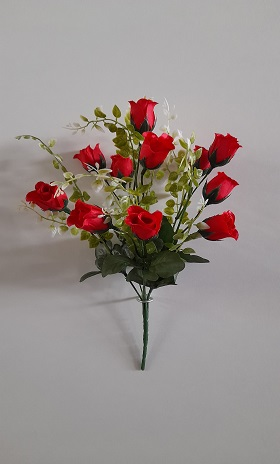 Букет бутонов роз «Беллис» 12г. Н=35см. Б/С  Б1002