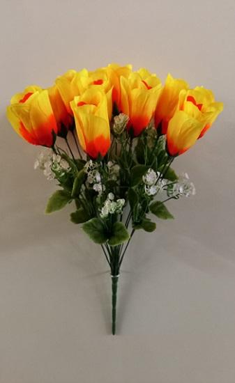 Букет бутонов роз «Ирэн» 18гол.Н-44см Б/С Б1111